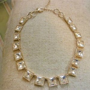 Stunning Chico's Gold Faceted Crystals Necklace